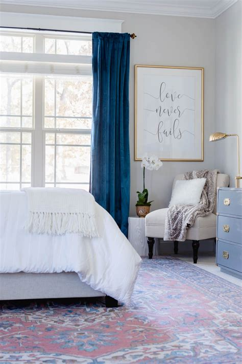 Gray Bedroom Drapes by One Room Challenge Orc Master Bedroom Reveal Bedroom