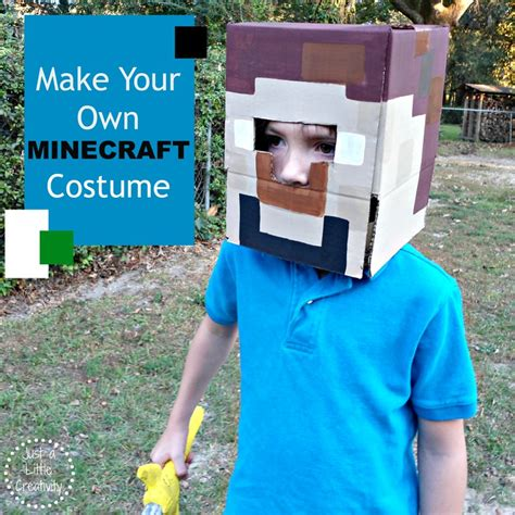 make your own costume how to make a minecraft costume easy no sew diy tip junkie
