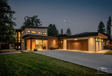 House Builder Design by Modern Custom Home Builder Vancouver Fort Langley Modern