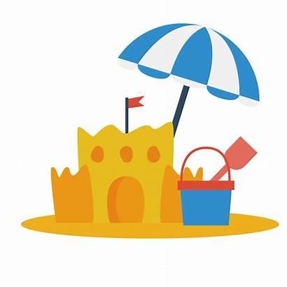 Sand Castle Clipart Play Sun Birthday Transparent