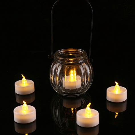 amber led tea lights homemory flameless led tea lights amber yellow light bulb