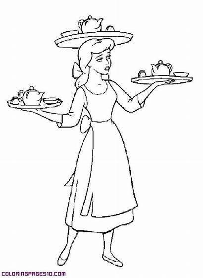 Cinderella Hard Working Coloring Pages Works Coloringpages10
