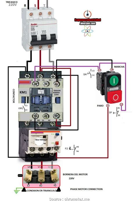 Magnetic Contactor Wiring Diagram by Contactors Wiring Diagrams Wiring Diagram