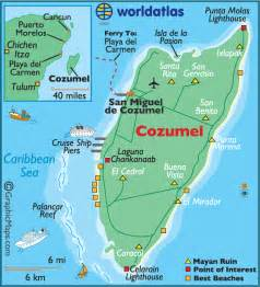 Cozumel Mexico Cruise Port Map