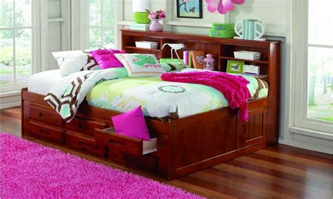 Bookcase Captains Bed Leather Full Size Daybed Full Day