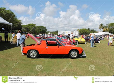 vintage orange porsche vintage orange porche at boca raton resort editorial photo