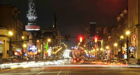 broadway night life  downtown nashvillejohn russell