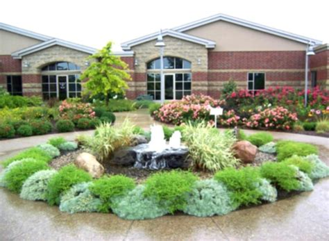 soft landscaping ideas green grass on front yard landscaping ideas pictures with soft flowers round shape small plants