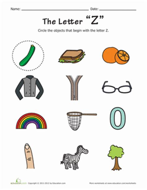 things that start with z preschool phonics phonics and