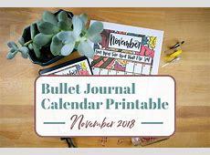 Free November 2018 Calendar Printable for Your Bullet