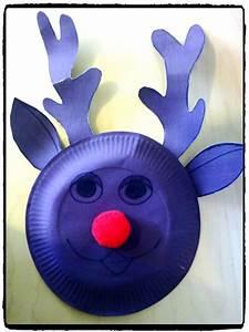Renne En Carton : bricolage noel renne en assiette en carton bricolage enfant bricolage pinterest noel and ~ Melissatoandfro.com Idées de Décoration