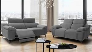 Canape de relaxation electrique design 3 places faro for Tapis design avec canapé electrique tissu