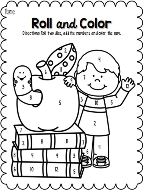 roll and color back to school school