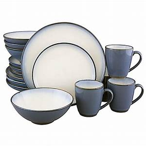 Sango® Concepts 16-Piece Dinnerware Set in Eggplant - Bed