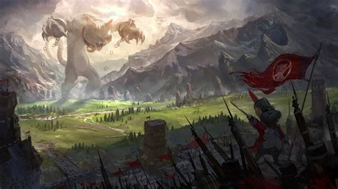 Anime War Wallpaper - cat war anime landscape mountain mice