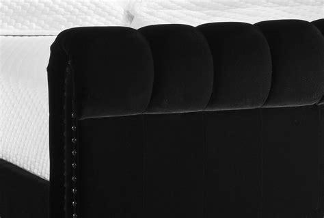 Black Velvet King Headboard by New 5ft Black Velvet Chesterfield King Size Upholstered