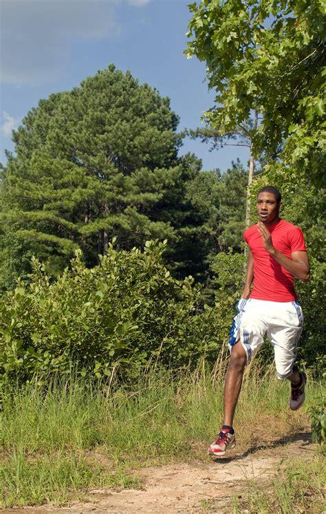 jogging  stock photo  african american man