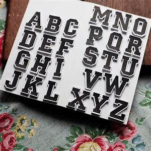 black and white letter stickers scrapbook self adhesive With wall stickers letters black