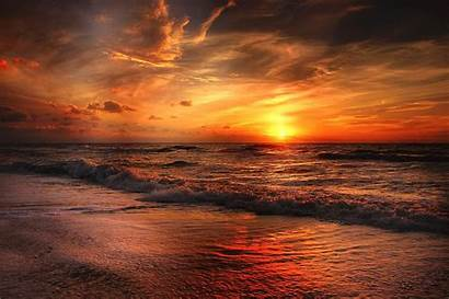 Sunset Beach Wallpapers Nature Sea 4k Backgrounds