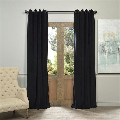signature grommet black 50 x 108 inch blackout curtain