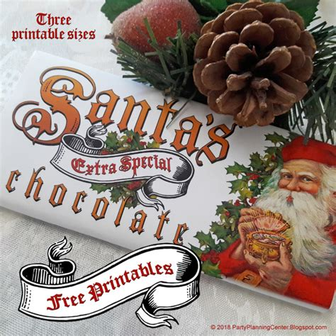 This is mainly because the foil protects the chocolate from exposure to air, light, and moisture. Free Printable Christmas Chocolate Bar Wrappers - Edible Crafts