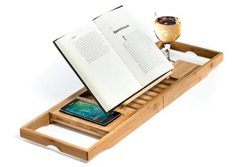 bamboo bathtub caddy with wine glass holder bamboo bathtub caddy tray organizer with book