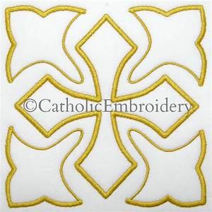 Catholic Embroidery: Diamond Cross Design
