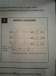 Electrical - Wiring Bathroom Exhaust Fan With Heater