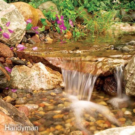 build  backyard waterfall  stream  family handyman