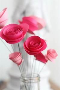 Einfache Papierblume Basteln : 1001 ideen wie sie papierblumen basteln k nnen ~ Eleganceandgraceweddings.com Haus und Dekorationen