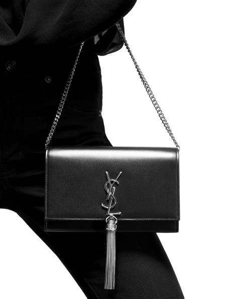 saint laurent kate chain  tassel wallet  red