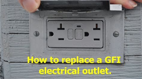 replace  gfci gfi electrical outlet youtube