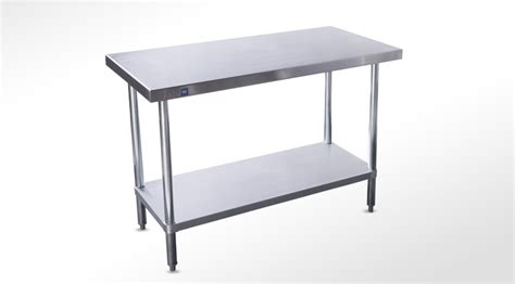 Stainless Steel Table With Backsplash : Stainless Steel Table Without Backsplash