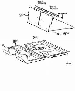 Toyota Tercel Hood Insulation Pad Clip  Rear