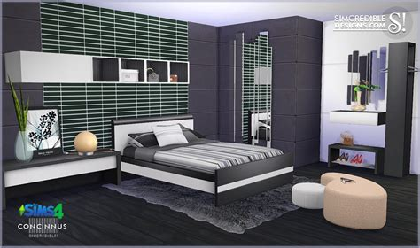 Sims 4 6 bedroom mansion download : My Sims 4 Blog: Concinnus Bedroom Set by Simcredible Designs
