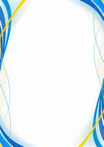 Blue and Yellow Border Design - Version 2 - Right by ...