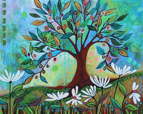 whimsical tree painting by peggy davis