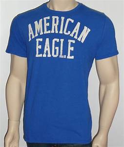 American Eagle Outfitters AEO Standard Logo Mens Royal ...