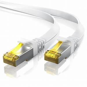 Lan Kabel Stecker : primewire cat 7 flachband patchkabel rj45 mehrfach geschirmtes u ftp gigabit lan kabel ~ Orissabook.com Haus und Dekorationen