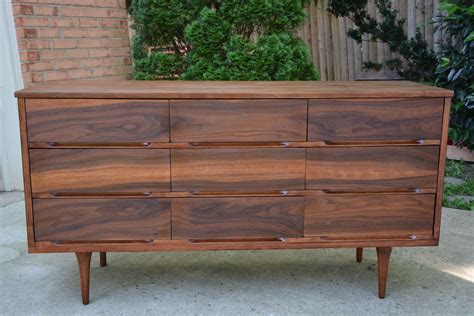 Mid Century Modern Dresser Makeover Stripped & Refinished