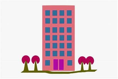 Clipart Building Apartment Flat Cartoon Apartments Graphic