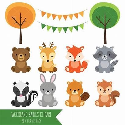 Woodland Clip Forest Animal Clipart Animals Shower