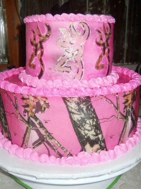 pink camo cakes ideas  pinterest camo baby