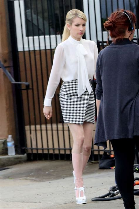 Emma Roberts - 'Scream Queens' Set Photos - New Orleans ...