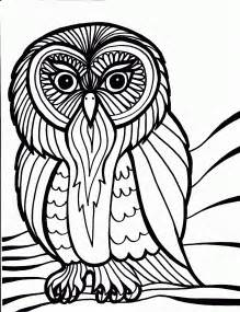 free printable owl coloring pages for