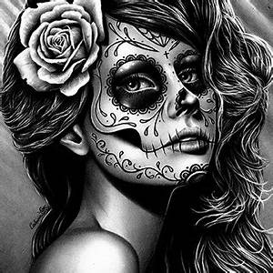 La Catrina Vorlagen : tattoo pin ups and day of the dead artwork and by neverdieart ~ Frokenaadalensverden.com Haus und Dekorationen