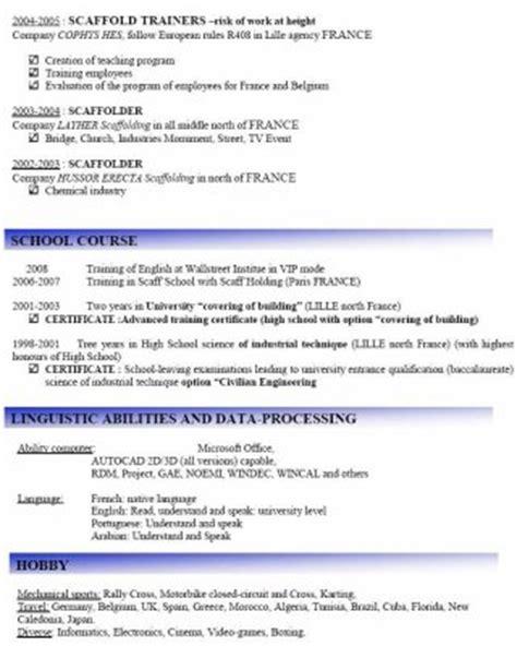 Advanced Scaffolder Resume by Cv Scaffolding Echafaudage Scaffolding Echafaudage