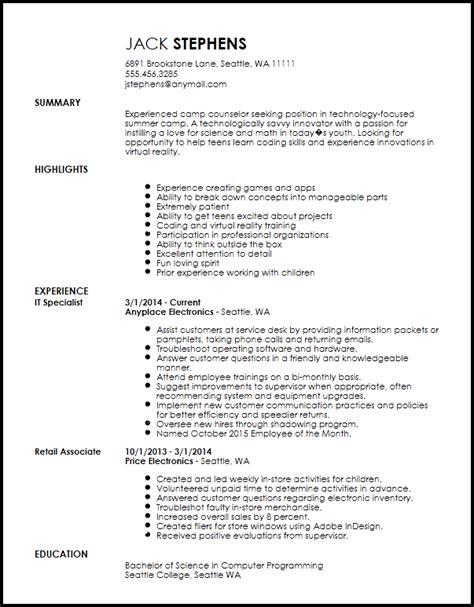 free contemporary c counselor resume resumenow