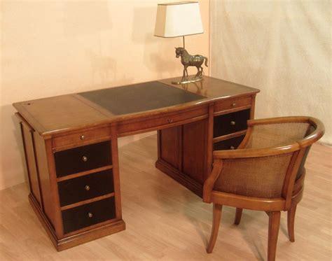 bureau bois massif bureau ministre en merisier bora meubles bois massif