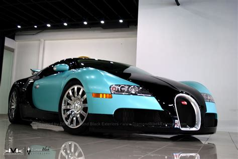 bugatti veyron wrapped  custom tiffany blue  color